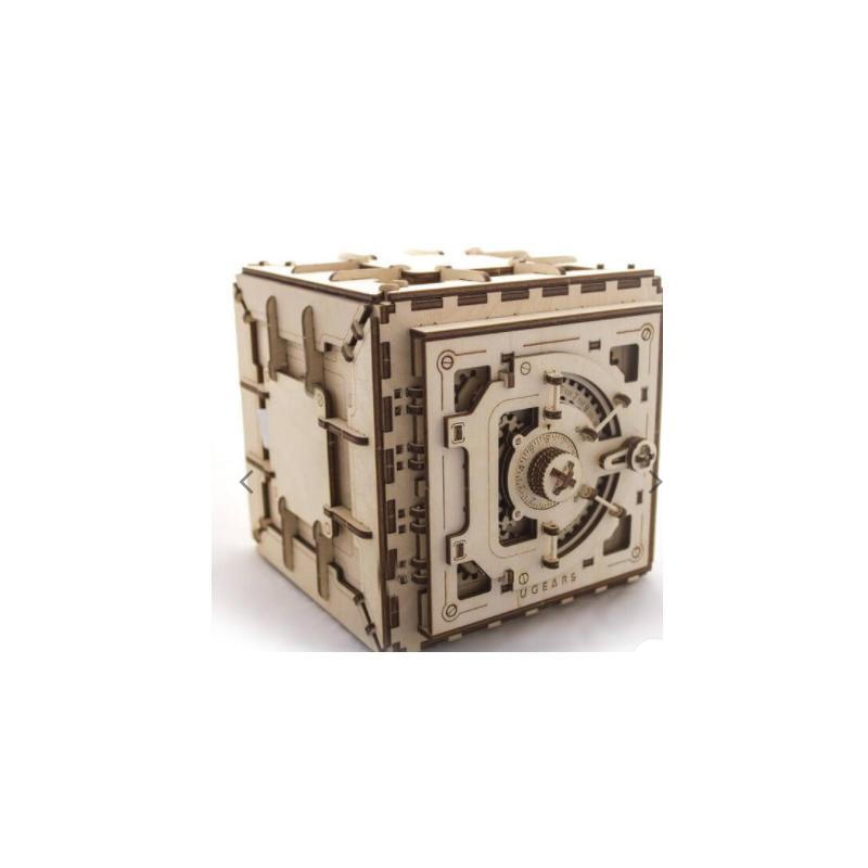 UGEARS Puzzle 3d mécanique de coffre fort Puzzles 3d en bois
