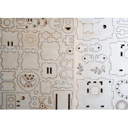 Orphéus le robot en bois , détail du contenu