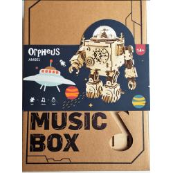 Orphéus le robot en bois , détail de l'emballage