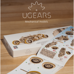 UGEARS Puzzle 3d mécanique, Ugears, Bolide U9 Grand Prix Puzzles 3d en bois
