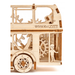puzzle3d bus wooden city