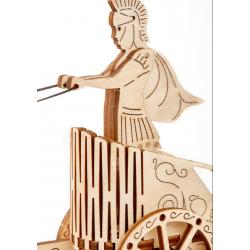 puzzle 3d char romain wooden city