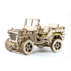 puzzle3d jeep wooden city
