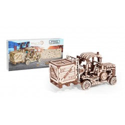 3-dimensional puzzle of the forklift. Made By Wood Trick, Sold By Tridipuz.fr
