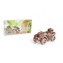 3d puzzle of a quad, made by wood trick, sold by tridipuz.fr
