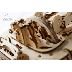 UGEARS Puzzle 3d en bois, la vielle à Roue Hurdy Gurdy. Puzzles 3d en bois