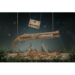 maquette de fusil à pompe, EAN 4820204380052, lance des élastiques. mister playwood, tridipuz.fr