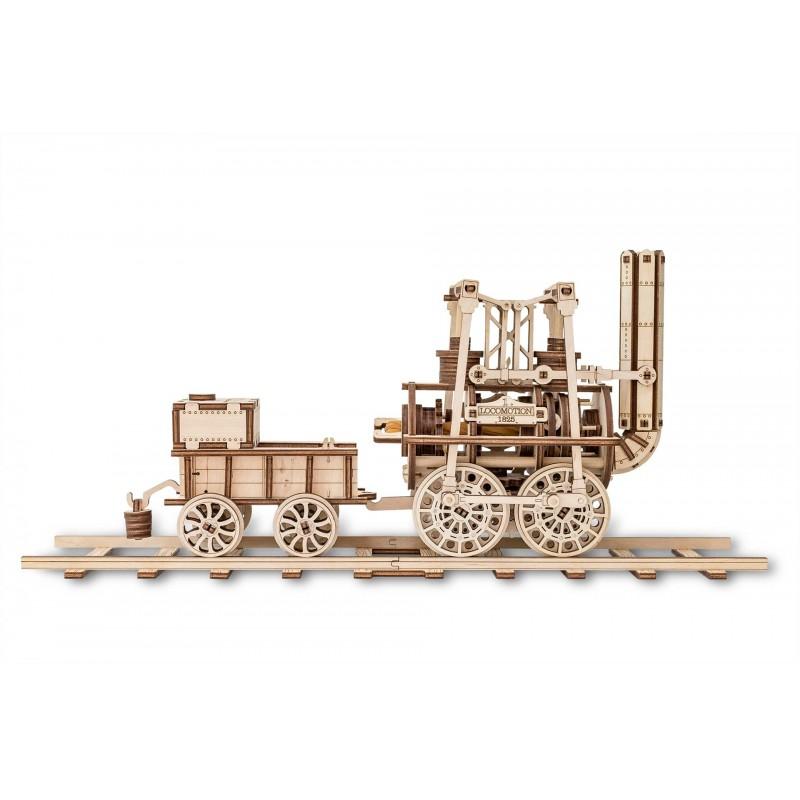 Eco Wood Art Maquette en bois de locomotive, Eco Wood Art Puzzles 3d en bois