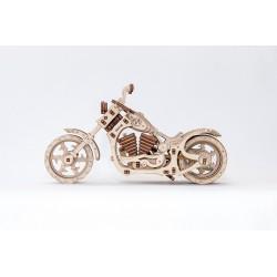 puzzle 3d en bois mécanique de moto
