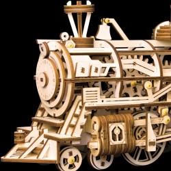 Robotime la Locomotive vue par Robotime, puzzle 3d mécanique Puzzles 3d en bois
