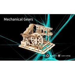 Robotime Circuit de billes en bois, modèle à crémaillère. Accueil