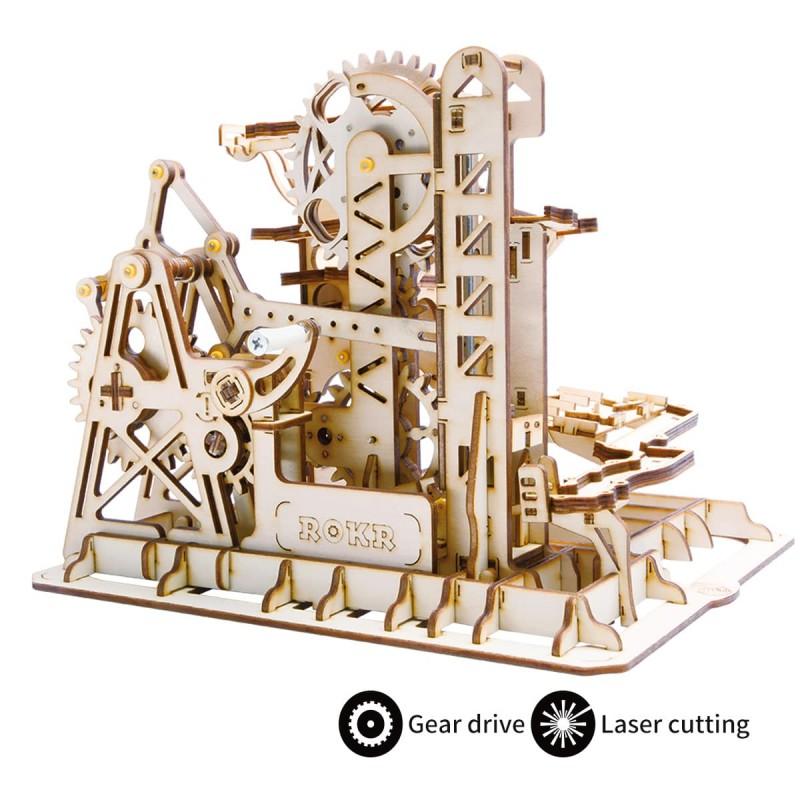 Circuit de billes, modèle avec tour et ascenseur