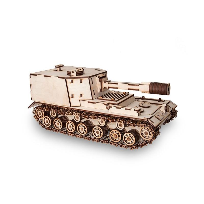 Maquette de tanque en bois, modèle