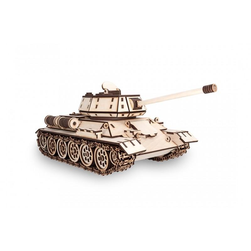 Maquette de tank T34, en bois