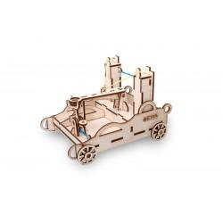 Catapulte en bois a assembler sans colle