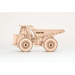 mini camion Belaz puzzle en...
