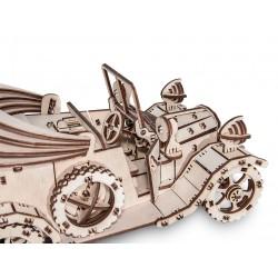 Eco Wood Art Maquette en bois de voiture rétro, Eco Wood Art Puzzles 3d en bois
