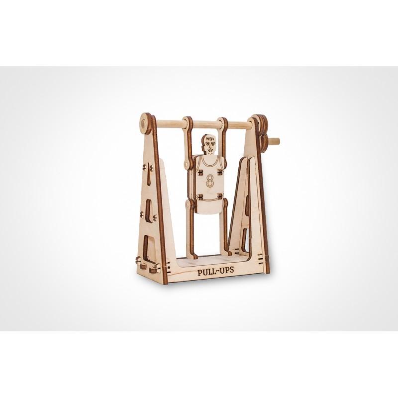 Mini puzzle 3d en bois de gymnaste, Eco Wood Art