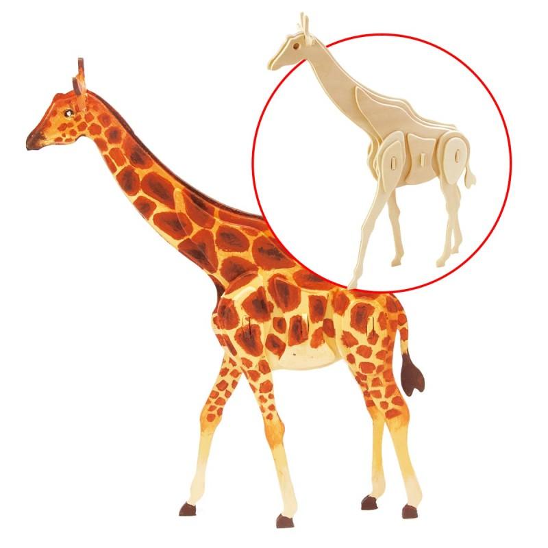 La Girafe à assembler et peindre