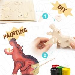 adorable hyppopotame à assembler et décorer