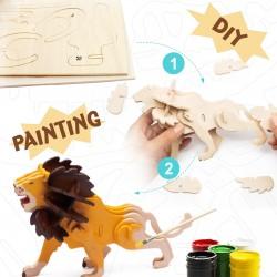 Robotime Le roi des Animaux à décorer Jeux et jouets en bois enfants