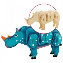 Rhinocéros à monter et décorer