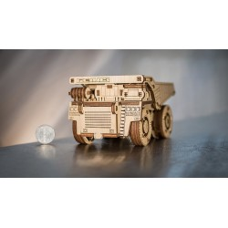 Eco Wood Art Maquette en bois du camion Belaz 75600, Eco Wood Art Puzzles 3d en bois