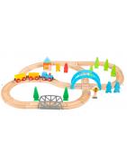 Trains en bois, circuits et accessoires trains